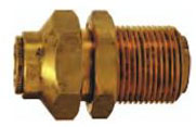 Brass Bulkhead Union Push-in Quick Connect/Disconnect Fitting jpg