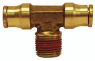 Brass Male Branch Tee Push-in Quick Connect/Disconnect Fitting jpg