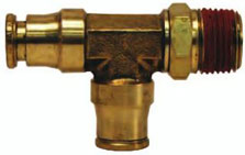 Brass Male Swivel Run Tee Push-in Quick Connect/Disconnect Fitting jpg